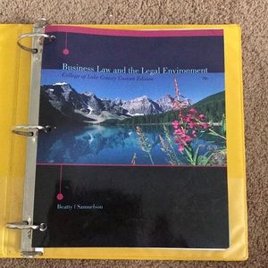 Business Ethics College Textbook in Binder